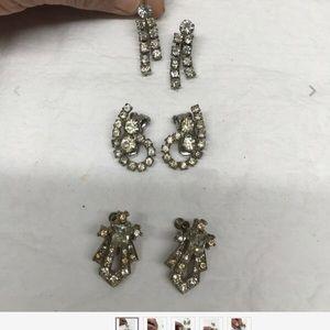 Vintage earrings - set of 3
